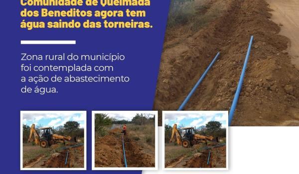 Água na torneira agora é uma realidade para Comunidade de Queimada dos Beneditos!
